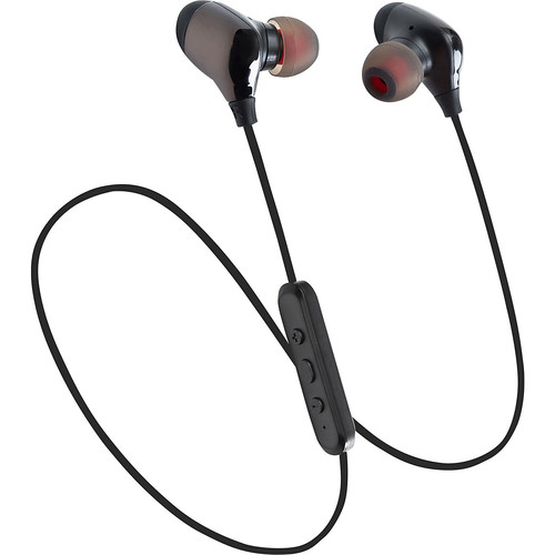 LAX Gadgets Sweatproof Bluetooth Wireless Sports Earbuds with Soft Caps and Mic