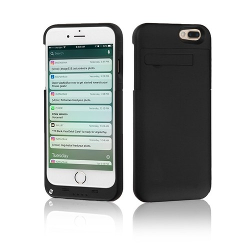 Indigi High Capacity 4000mAh Rechargeable External Battery Case for iPhone 7 Plus- Black