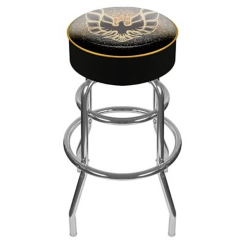 Trademark Global Vinyl Padded Pontiac Firebird Swivel Bar Stools