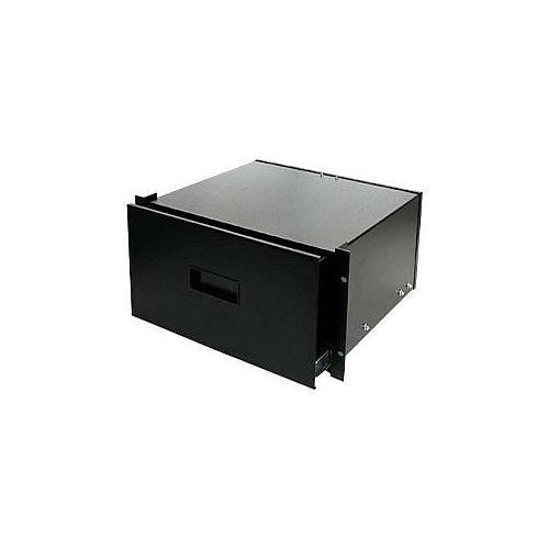StarTech 4UDRAWER 4U Black Steel Storage Drawer for 19in Racks and Cabinets - Rack storage drawer - 4U - for P/N: 4POSTRACK25, RK1219WALL, RK1219WALH, RK4242BKNS, RK4242BK, RK4236BKNS, RK4236BK, 4POSTRACKBK