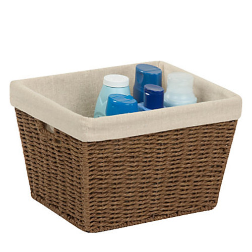 Honey-Can-Do Paper Rope Storage Tote With Liner, 10
