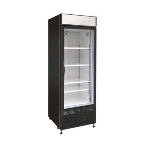 Maxx Cold X-Series 23 cu. ft. Single Door Merchandiser Refrigerator in Black