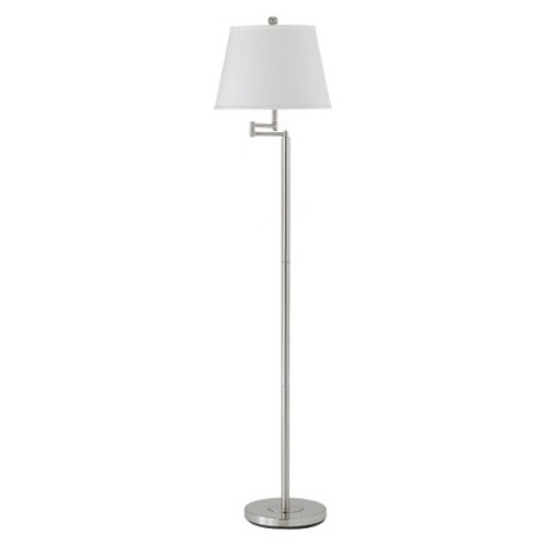 Cal Lighting BO-2077SWFL-BS Andros Metal Swing Arm Floor Lamp in Brushed Steel [Steel]