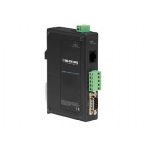 Black Box Modbus Hardened Serial Server - Device server - 10Mb LAN, 100Mb LAN, RS-232, RS-422, RS-485, Modbus - rail mountable