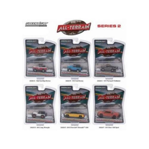 Greenlight All Terrain Series 2, 6 Piece Diecast Car Set 1-64 (Dtdp1487)