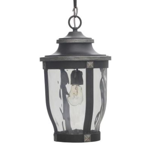 Home Decorators Collection McCarthy 1-Light Bronze Outdoor Chain Hung Lantern