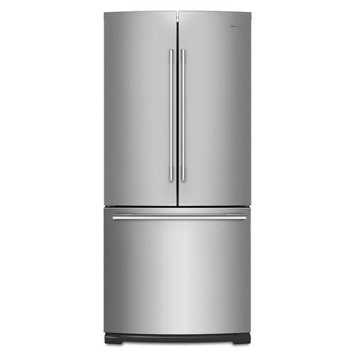 Whirlpool 30 in. W 20 cu. ft. French Door Refrigerator in Fingerprint Resistant Stainless Steel