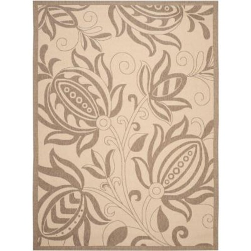 Safavieh Courtyard Natural/Brown 9 ft. x 12 ft. Indoor/Outdoor Area Rug