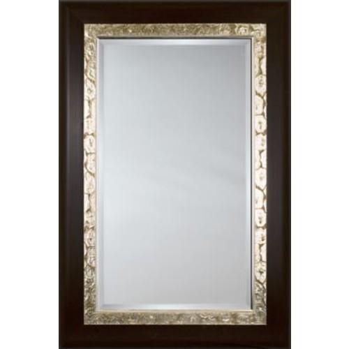 Mirror Image Home Mirror Style 81113 - Mahogany w/ Silver Maze Detail; 48 x 68