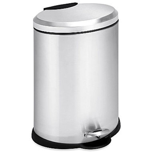Honey-Can-Do TRS-01447 Oval Stainless Steel Step Can, 12-Liter [12-liter]