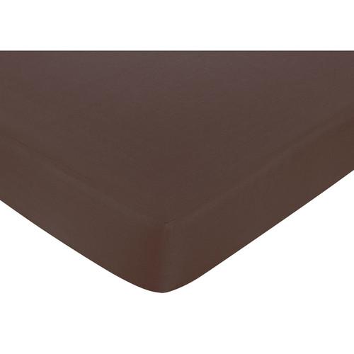 Sweet JoJo Designs Designer Dot Chocolate Brown Fitted Crib Sheet