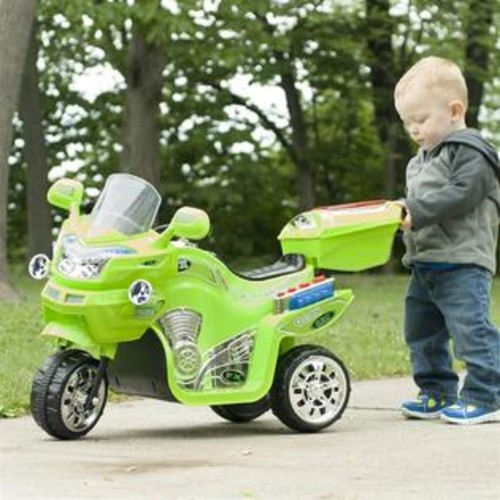 Lil' Rider 3-Wheel Battery Powered FX Sport Bike in Green