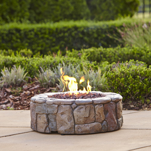Garden Oasis Stone Look Gas Fire Pit, 28