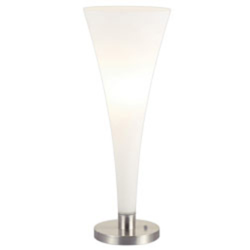 Adesso Mimosa Table Lamp, Satin Steel/White