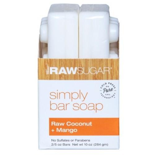 Raw Sugar Raw Coconut Mango Pure and Natural Bar Soap - 10oz