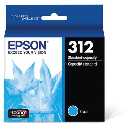 Epson T312 Claria Standard Capacity Ink Cartridge for Inkjet Printer, Cyan