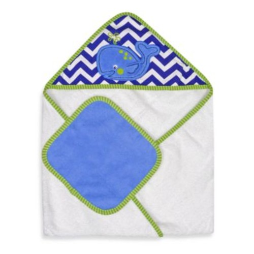 Neat Solutions Whale Hooded Towel & Washcloth Set