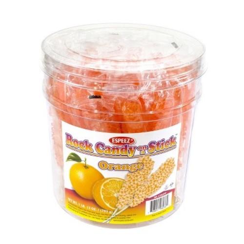 ESPEEZ Orange Rock Candy Sticks - 36ct