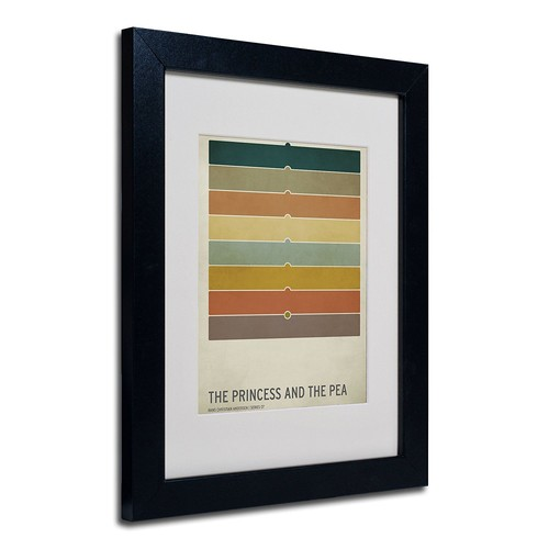 The Princess and The Pea Artwork by Christian Jackson in Black Frame, 11 by 14-Inch [11 by 14-Inch]