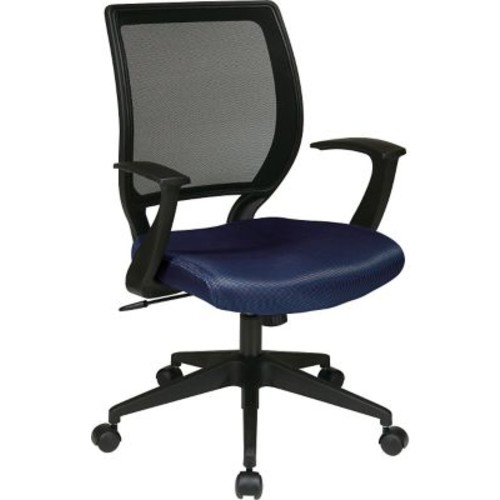 Office Star WorkSmart Polyester Black Screen Back Task Chairs with