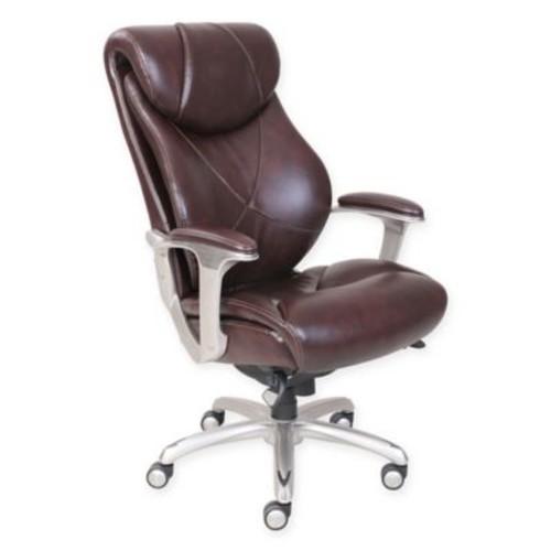La-Z-Boy Cantania Leather Executive Office Chair in Coffee