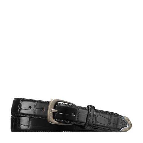 Sterling-Tipped Alligator Belt