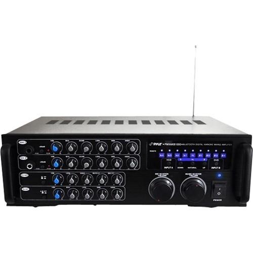 PYLE - PylePro 1000W Bluetooth Stereo Mixer Karaoke - Black
