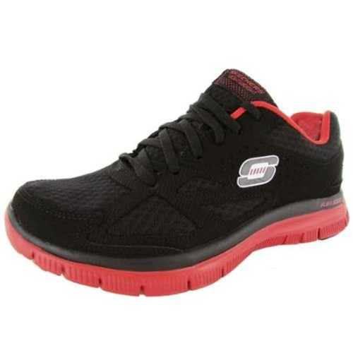 Skechers Mens Flex Advantage Master Plan Athletic Sneaker, Black/Red, US 10