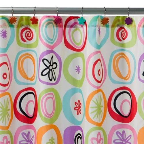 All That Jazz Shower Curtain Blue/Green - Creative Bath