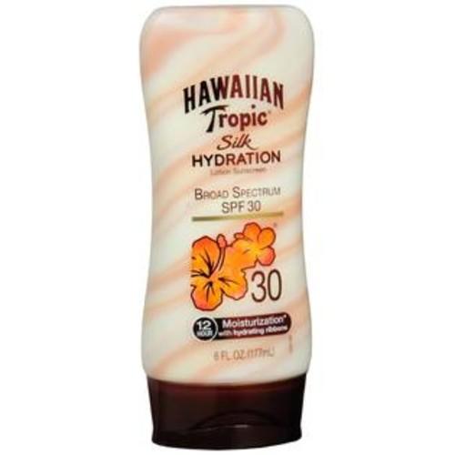 Hawaiian Tropic Silk Hydration Lotion Sunscreen SPF 30, 6 OZ