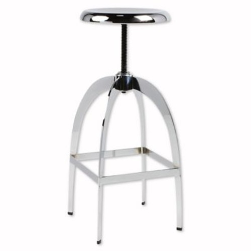 Kate and Laurel Tomi Adjustable Bar Stool in Chrome