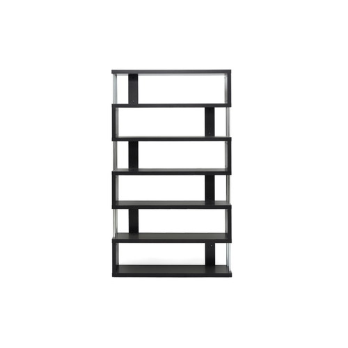 Baxton Studio Barnes Dark Brown Six-Shelf Modern Bookcase FP-6D