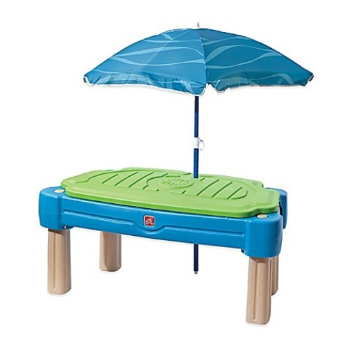 Step2 Cascading Cove Water Table with Umbrella