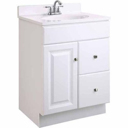 Design House Wyndham 24 in. W x 18 in. D Unassembled Vanity Cabinet Only in White Semi-Gloss