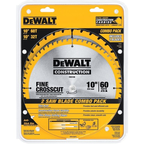 DEWALT 10 in. Circular Saw Blade Assortment (2-Pack)