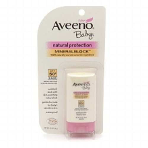 Aveeno Baby Baby Natural Protection Face Stick for Sensitive Skin, SPF 50