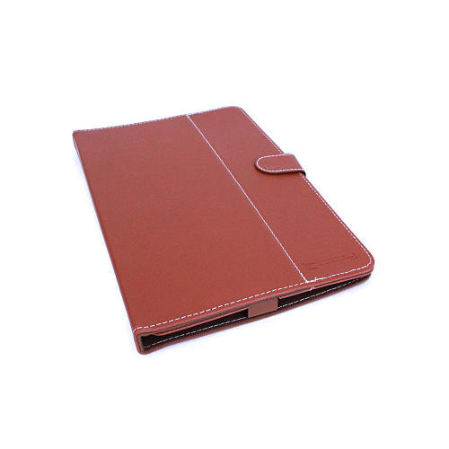 LINSAY 10.1 inch Quad Core Tablet - Brown Leather Case
