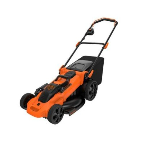 BLACK+DECKER 20 in. 40-Volt MAX Lithium-Ion Cordless Walk Behind Push Lawn Mower with (2) 2.5 Ah Batteries and Charger Included