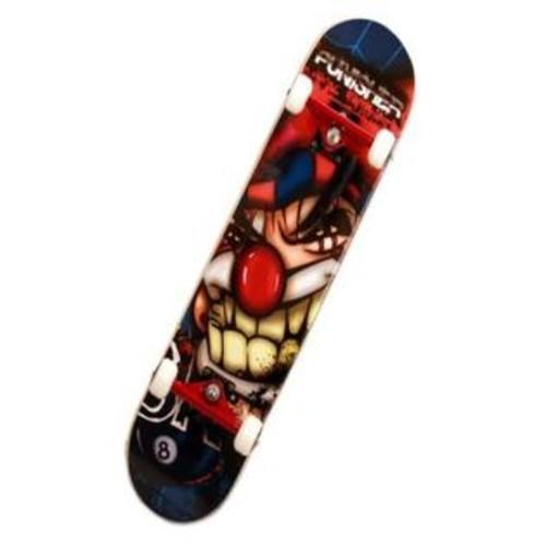 Punisher Skateboards Punisher Jester Complete Skateboard, Blue, 31-Inch