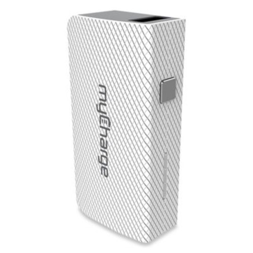 myCharge AmpMini 2000 mAh Portable USB Charger in White