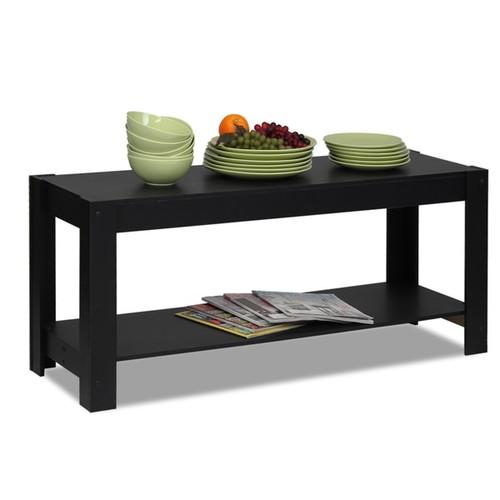 Furinno Coffee, Console, Sofa & End Tables Furinno Black Coffee Table