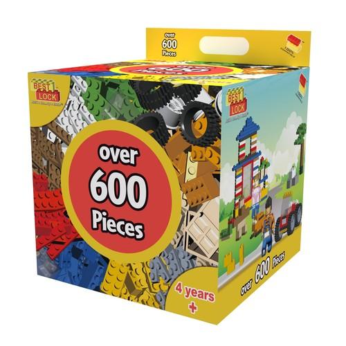 Best Lock 600-Piece Building Construction Kit