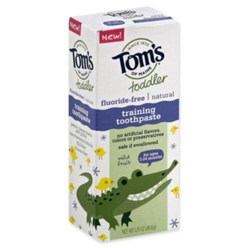 Tom's of Maine Toddler 1.75 oz. Fluoride-Free Natural Training Toothpaste in Mild Fruit