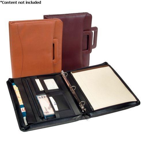 Royce Leather 'Jefferson' Zip Around Binder Padfolio - 301-BLACK-5