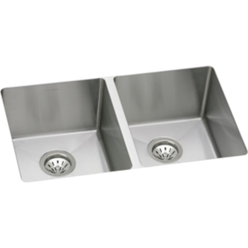 Elkay Avado 18.5-in x 30.75-in Double-Basin Stainless Steel Undermount Residential Kitchen Sink