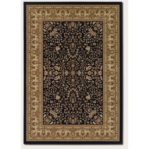 Couristan Izmir 7018 1000 Floral Mashhad Ebony Rug - 7 ft 10 in x 11 ft 2 in