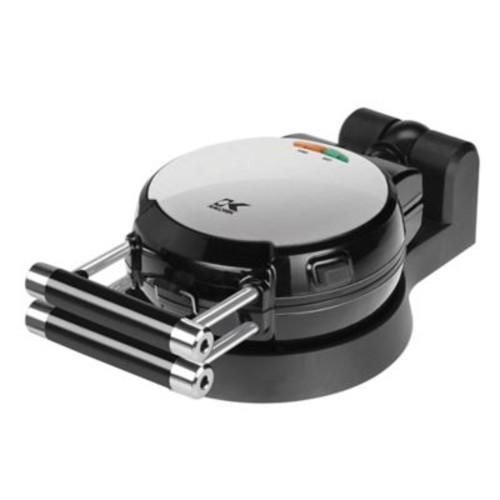 Kalorik Belgian Waffle Maker with Detachable Plates in Black/Silver