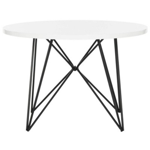 Safavieh Mid-Century Modern Vida Lacquer White / Black End Table