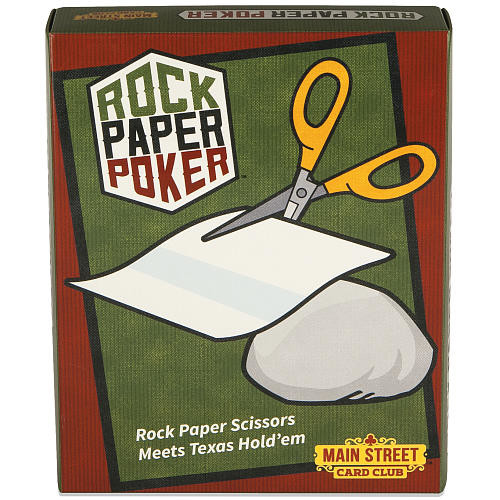 Main Street Card Club Rock Paper Poker Card Game