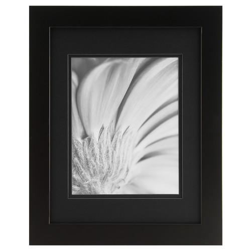 Gallery Solutions 11X14 BLACK FRAME, MATTED TO 8X10